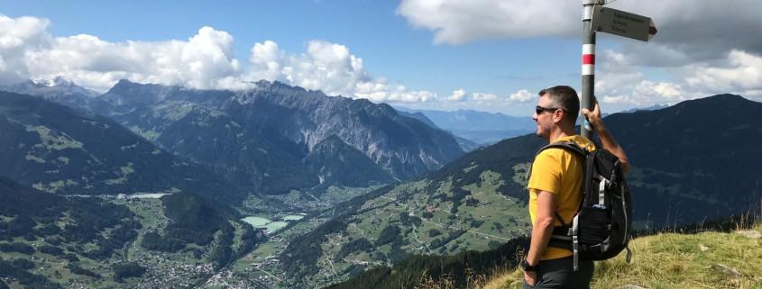 Wandern im Montafon nahe Schruns
